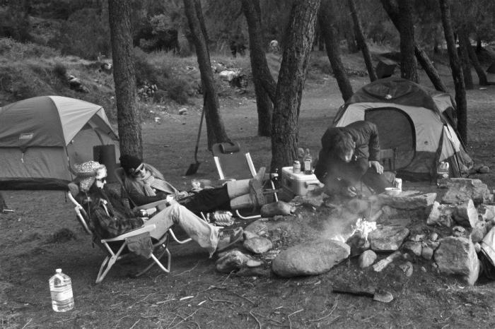 group- campsite