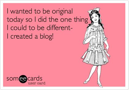girly camping blogging e card