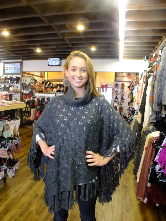 Quiksilver Girls Log Cabin Poncho