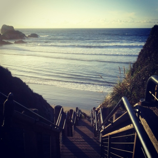 stairs to sand dollar beach