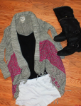 billabong sweater and roxy boots