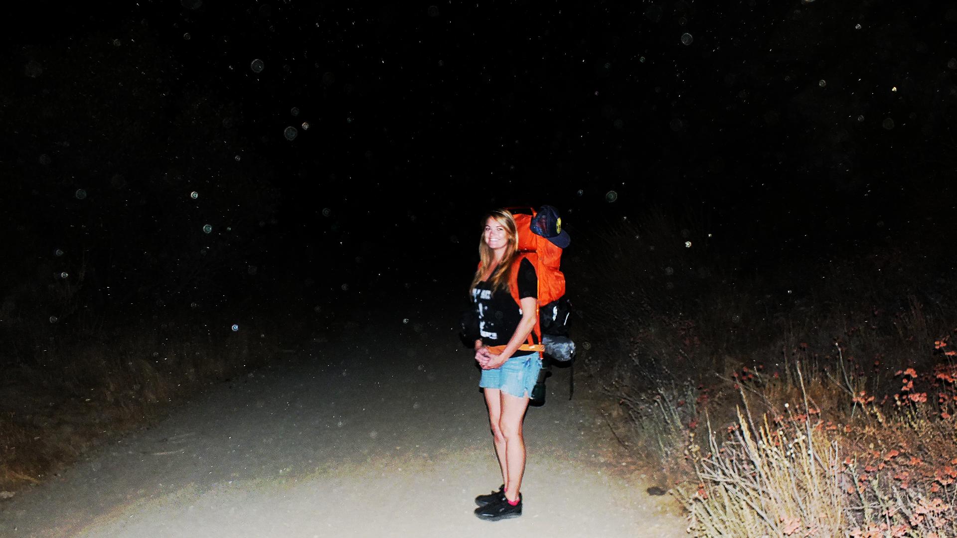 night hiking  san gabriel mountains