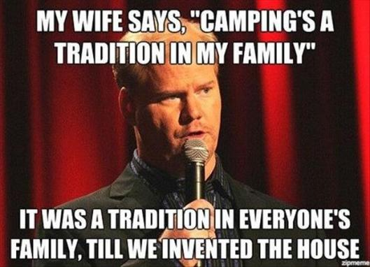 camping is a tradition