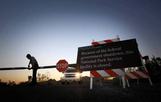 National Parks closed governement shutdown