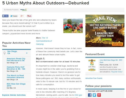 5 outdoor myths debunked