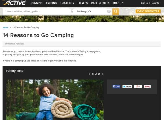 14 reasons to go camping