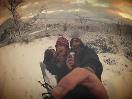 Snowboarding NYE